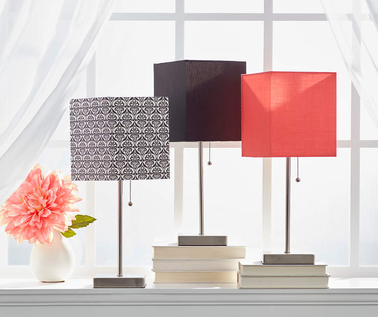 Stick Lamp With Drum Shade Collection Big Lots