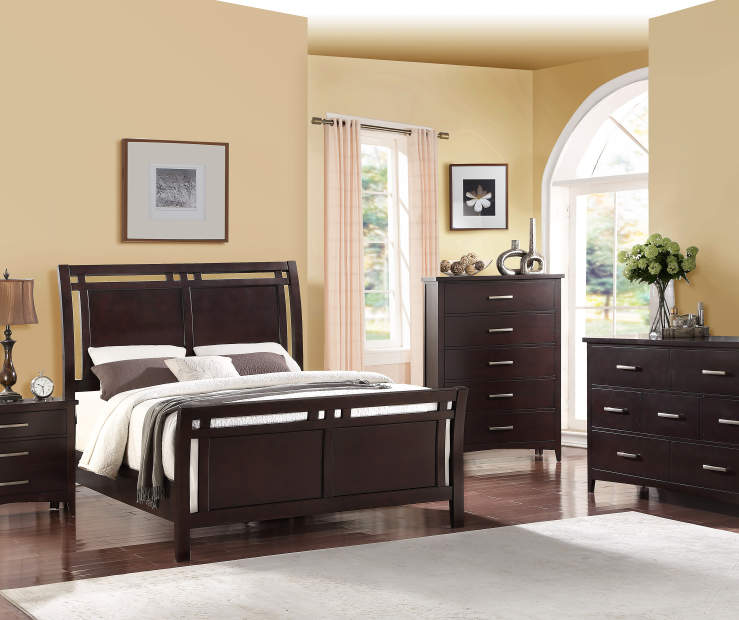 Best Place To Buy Bedroom Furniture: Stratford Hamilton Espresso Queen Bedroom Collection