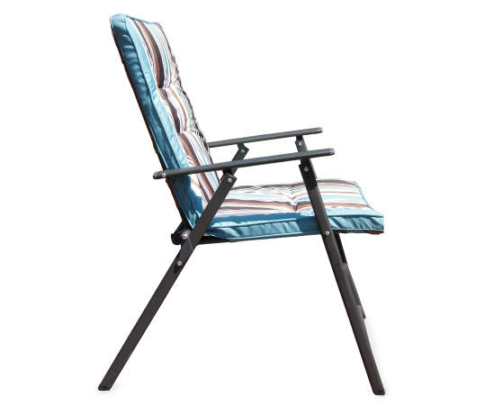 stripe padded outdoor folding chair