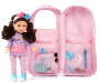 Style Girls Backpack 18 inch Doll Carrier silo front
