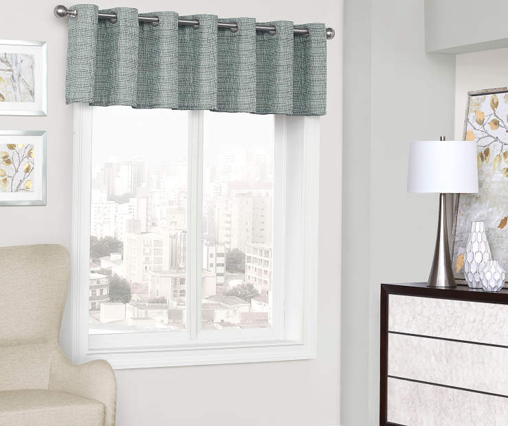 Sundown Etta Blackout Grommet Window Curtain Valance