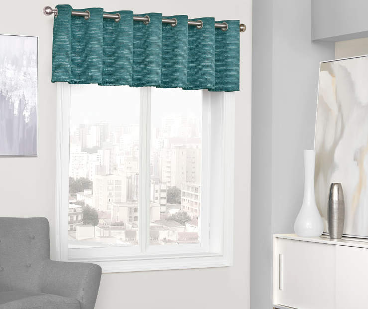 Sundown Farron Blackout Grommet Window Curtain Valance