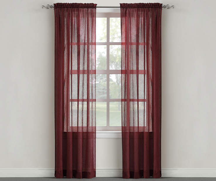 Sundried Tomato Crushed Single Curtain Panel 84 inches Window Lifestyle