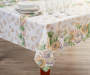 Sunflower Pumpkin Fabric Tablecloth 52 inch x 70 inch lifestyle