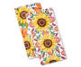 Sunflower and Leaf Kitchen Towels 2 Pack silo front