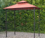 Sunjoy  Grill Gazebo with Terra Cotta Canopy and LED lights