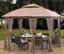 Sunjoy  Light Brown 12' x 10' Cardiff Soft-Top Gazebo Puts a Stop to a Boring Backyard