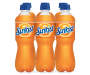 Sunkist Orange Soda, 0.5 L Bottles, 6 Pack
