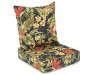 Sunset Ebony Tropical Deep Seat and Back Cushion Set Silo Image Angled View