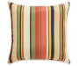 Sunset Ebony Tropical and Stripe Reversible Outdoor Throw Pillow 16 inches by 16 inches Silo Alternate View