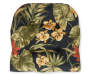 Sunset Ebony Tropical and Stripe Reversible Outdoor Wicker Chair Cushion Tropical Silo Image
