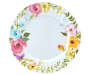 Sweet Summertime Floral Melamine Dinner Plates 4 Pack silo top view