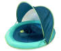 SwimSchool Level 1 Sunshade Turquoise Baby Float Angled View Silo Image