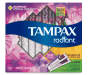 TAMPAX Radiant Duopack (Regular/Super), Plastic Tampons, Unscented, 28 Count