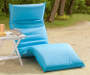 TURQUOISE FOLDABLE LOUNGE CHAIR