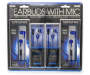 Talktunes Blue Stereo Earbuds 4 Pack In Package Silo front package