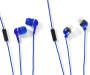 Talktunes Blue Stereo Earbuds with Microphones 4 Pack silo front