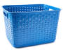 Tall Blue Weave Basket silo front