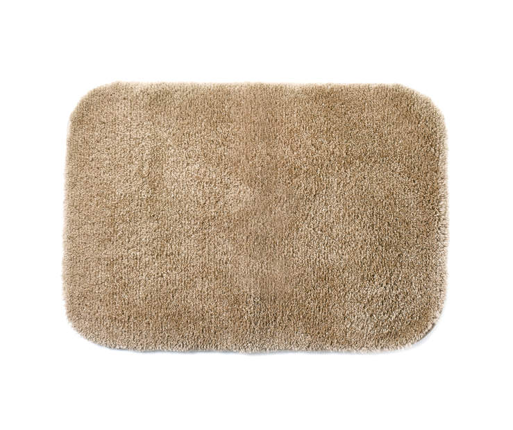 Tan Bath Rug 17inches x 24 inches silo front