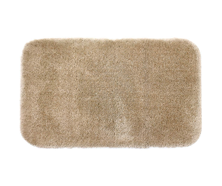Tan Bath Rug 20 inches x 34 inches silo front