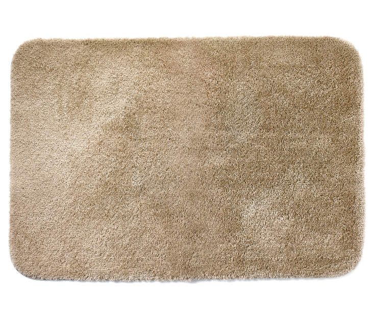 Tan Bath Rug 24inches x 36 inches silo front