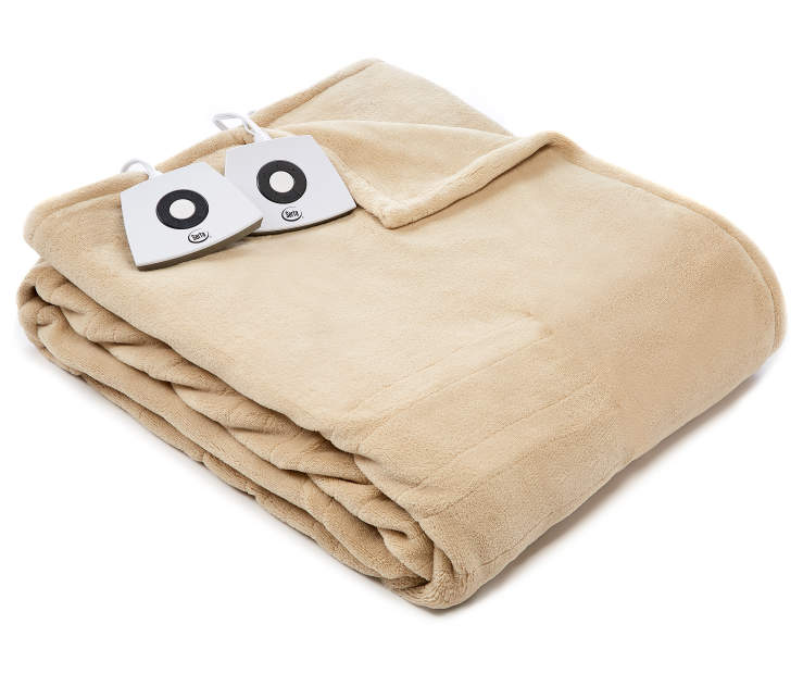 Tan King Electric Blanket silo front