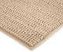 Tan Textured Bath Rug, 24 by 36 Silo Image Overhead View Close Up Corner