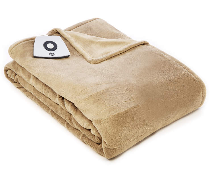 Tan Twin Electric Blanket silo front