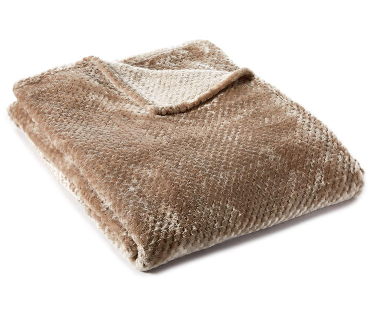 Tan Velvet King Blanket silo front