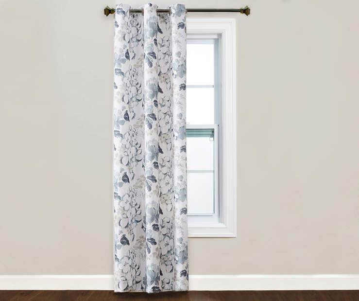 Tanya Montego Floral Grommet Curtain Panel 84 inches lifestyle