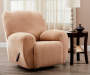 Tapue Corduroy Stretch Recliner Slipcover on Recliner Lifestyle Image