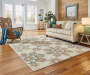 Tara Ivory Area Rug 5 Feet 3 Inches by 7 Feet 6 Inches in Living Room Lifestyle Image