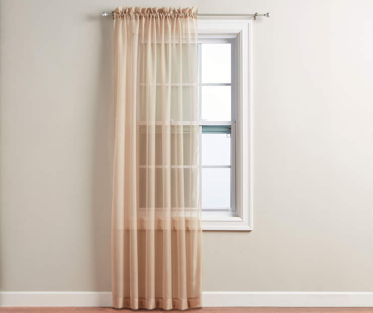 Taupe Voile Panel 84 Inches on Window Room View