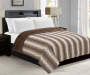 Taupe and Brown Faux Fur Full Queen Reversible Comforter lifestyle bedroom