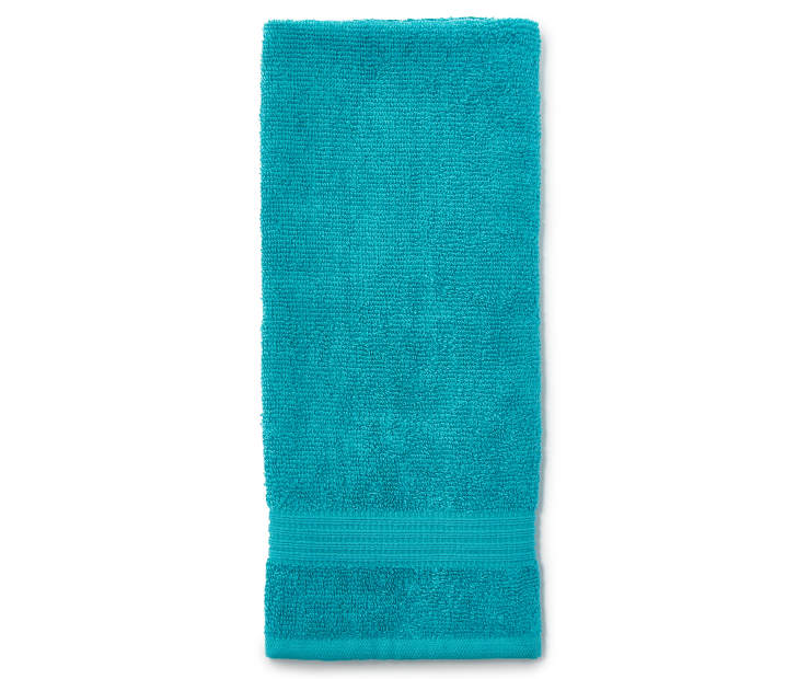 Teal Just Home Hand Towel Folded Silo Image