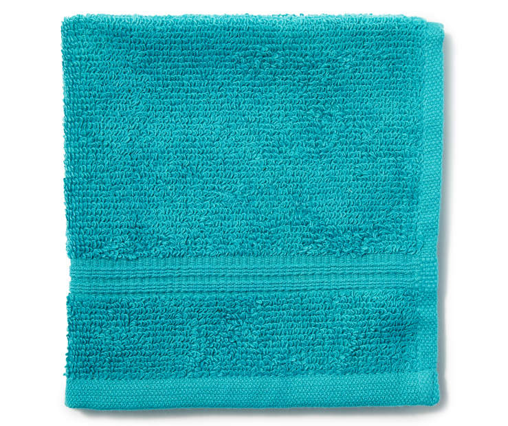 Teal Just Home Wash Cloth Folded Silo Image