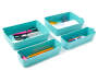 Teal Mini Flex Trays 4 Piece Set silo front with props