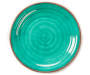 Teal and Brown Swirl Melamine Dinner Plate silo front