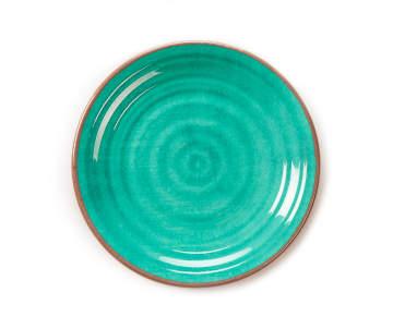 Teal & Brown Swirl Melamine Salad Plate | Big Lots