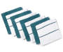 Teal and White Dish Cloths 8 Pack silo front