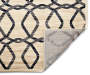 Tello Gray and Beige Ogee Area Rug 6 feet 7 inch x 8 feet 6 inch silo front corner flip