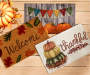 Thankful Stacked Pumpkins Indoor Accent Rug 18 inch x 30 inch lifestyle