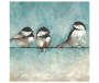 Three Birds on a Wire Embellished Art Canvas silo front