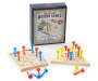 Tic Tac Toe and Solitaire Nostalgic Wooden Travel Games silo top view
