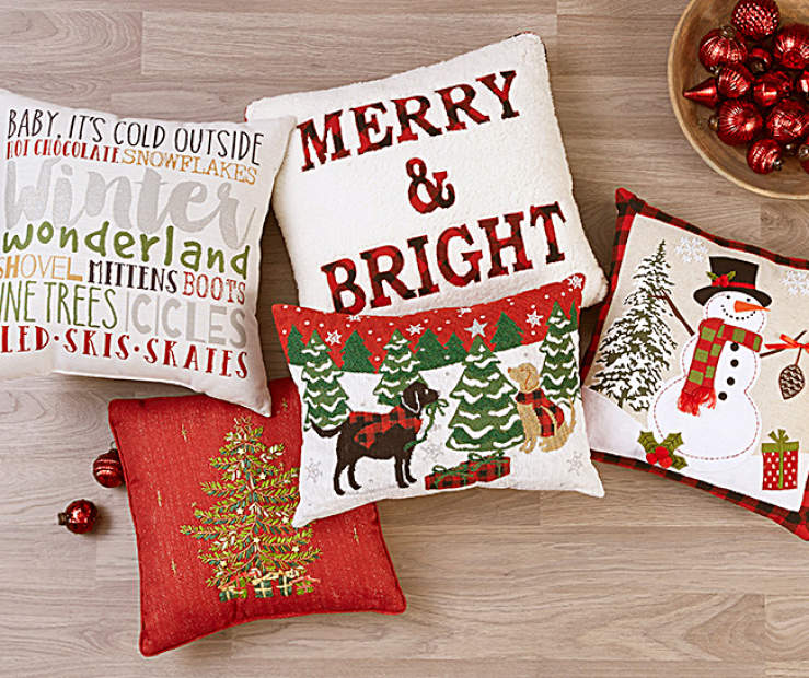 since you can never have enough of that choose one of these decorative pillows - Christmas Decorative Pillows