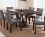 Tiffany Gray Dining Chairs with Table Lifestyle