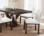 Tiffany White Dining Chairs with Table Lifestyle