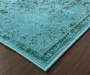 Tinsley Teal Area Rug 5 Feet 3 Inches by 7 Feet 6 Inches Corner View Lifestyle Image