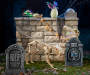 Tombstone Graveyard 6 Piece Set environment