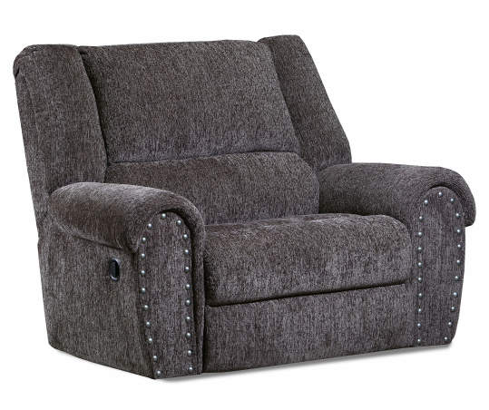 T Gray Chenille Recliner With